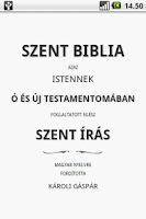 Screenshot of Szent Biblia (Holy Bible)