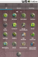 Screenshot of Crystal GO Launcher EX theme