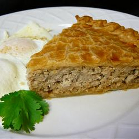 Песочный пирог с мясом рецепт