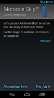 Screenshot of Motorola Skip™ Setup
