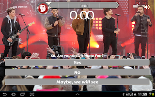 Screenshot of Ultimate 1D Quiz