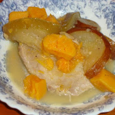 Crock Pot Pork Tenderloin With Apples and Sweet Potatoes