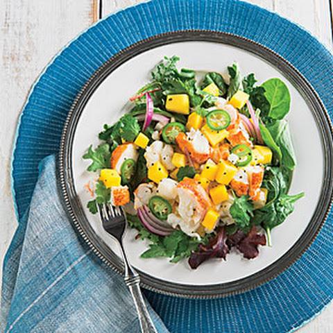 Chilled Seafood Pasta Salad With Ginger Yogurt Dressing Recipe ...
