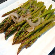 Julia Child's Asparagus Simmered in Onions, Garlic, and Lemon