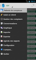 Screenshot of Relevés De Compteurs Free