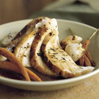 Roasted Chicken with Garlic-Balsamic Sauce