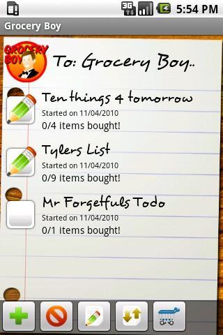 Grocery Boy Full Grocery List