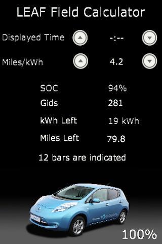 Nissan LEAF Field Calculator