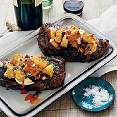 "Strip Loin Steaks with ""Pizza"" Topping"