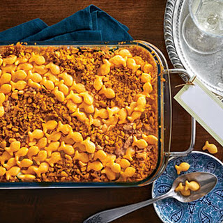 Cheese Cracker-Topped Squash Casserole