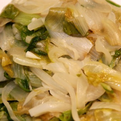 Braised Escarole with Onions