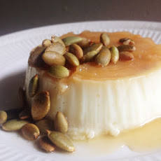 Caramel Apple Flan with Toasted Pepitas