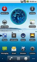 Screenshot of Whale Humpback 4 Analog Clock