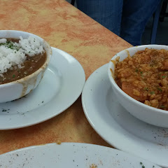 GF red beans & rice as well as GF jambalaya