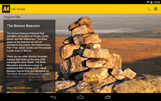 Screenshot of 2014 AA Caravan&Camping Guide