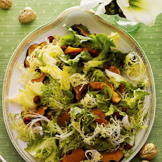 Chicory Salad with Maple-Roasted Acorn Squash