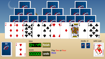 Screenshot of Pyramids Rush Solitaire Online