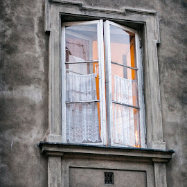 A little light inside by Cassandra G - Buildings & Architecture Architectural Detail ( window, buildings, architectural detail, architecture, antique )