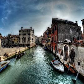 Venice by Rino Calori - City,  Street & Park  Historic Districts ( water, fisheye, hdr, venice, italy )