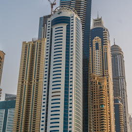 Little Boxes by Sean Heatley - Buildings & Architecture Architectural Detail ( building, dubai, uae, apartment, crane, construction, tall )