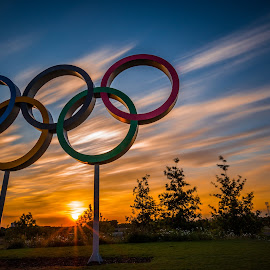 Olympic Sunset by Naf Selmani - City,  Street & Park  City Parks ( europe, londra, ロンドン, লন্ডন, cityoflondon, travel, londres, 伦敦, england, londýn, לונדון, لندن, lontoo, лондон, nikon, λονδίνο, uk, londen, olympicpark, london, londyn, sunset, 런던, लंदन, summer, longexposure, iandthecamera,  )