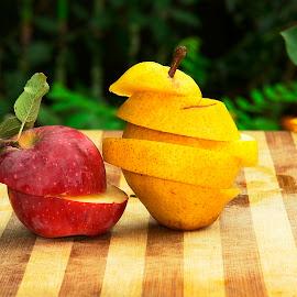 Fruits by Alah Ja Ja Bin - Food & Drink Fruits & Vegetables ( arrangement, apple, food, fruits, vegetables, natural )