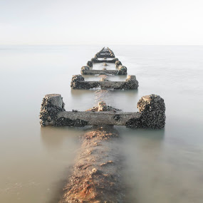 Into The Sea by Darren Curtis - Landscapes Waterscapes ( cityscapes, copyright-2014 all rights reserved, landscapes of sussex, seascapes, living landscapes, 2014-03 southwick beach, landscapes, fine art photography., sussex landscapes, street photography )