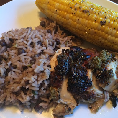Caribbean Jerk Chicken with Black Beans and Rice