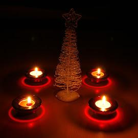 Christmass tree by Mario Horvat - Artistic Objects Other Objects ( candle, svečke, christmas, svijeće, christmas tree, light, smrekca,  )