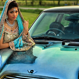 2 Beauties by Satya Adt - Wedding Other ( car, indian bride and mini, indian bride, mini cooper )