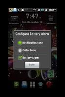 Screenshot of Battery alarm