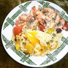 Shazam! Shrimp With Mediterranean Orzo