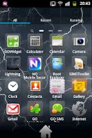 Screenshot of Lightning Theme GO Launcher EX