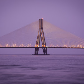 sealink by Amol Patil - Buildings & Architecture Bridges & Suspended Structures ( mumbai, sunset, sealink )