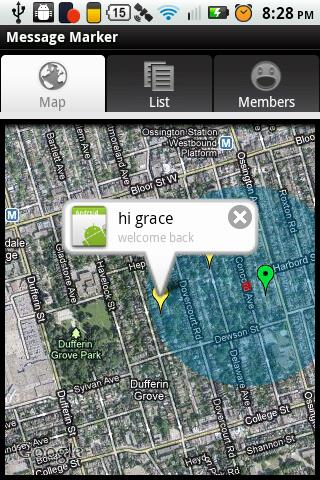 GPS Message Marker