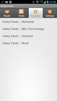 Screenshot of Geeky Feeds
