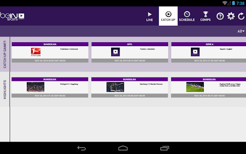 App beIN SPORTS CONNECT apk for kindle fire