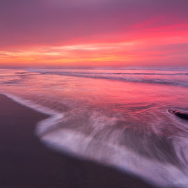 Ona Beach Sunset by Christian Flores-Muñoz - Landscapes Beaches ( seal rock, epic, central oregon coast, sunset, ona beach )