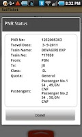 Screenshot of RailTicket Lite