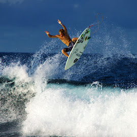 Tail High  by Dalton Smith - Sports & Fitness Surfing ( puerto rico, surfing, waves, sports, surf )