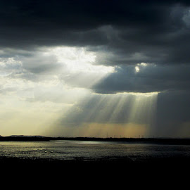 Gods Message by Shamsad Mhd - Landscapes Cloud Formations ( message, god, lighting, light, natural )