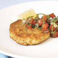 Mini Milanese-Style Pork Tenderloin with Raw Tomato Sauce