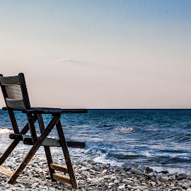 Waiting by Iulian Ciobanu - Landscapes Beaches ( Chair, Chairs, Sitting )