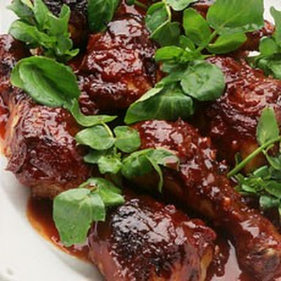 Oven-baked Chicken in Maple Barbecue Sauce
