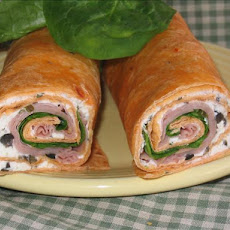 Mediterranean Spinach Turkey Wrap