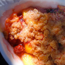 Cranberry Peach Crumble