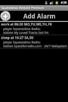 Screenshot of Squeezebox Remote Premium