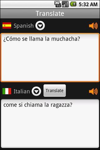 Translator Spanish-Italian