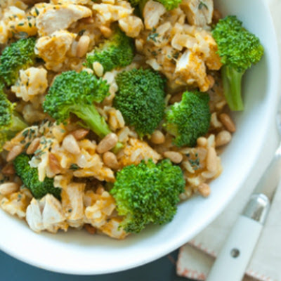 Brown Rice with Chicken and Broccoli