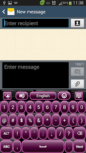 Dark Plum Keyboard - screenshot